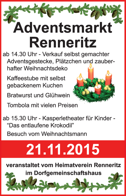 Adventsmarkt Renneritz 2015