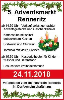 Adventsmarkt Renneritz 2018